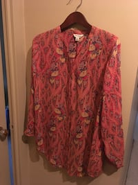 Lady's New Spring lightweight blouse button front with mandarin collar size XL by Lucky Brand  Oakville, L6K 1Y8