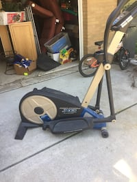 Black and gray Pro-Form XP elliptical trainer
