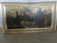 Mountain and trees painting