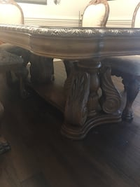 brown wooden pedestal table with drawer Indian Trail, 28079