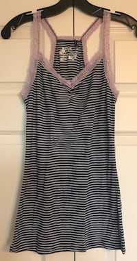 Striped Lace Tank Top Toronto