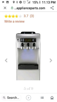 Water dispenser unit with the refrigerator on the bottom