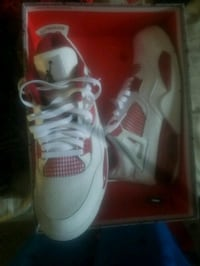 pair of white-and-red Adidas sneakers San Diego, 92110