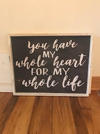 black and white wooden quote board Morgantown, 26505