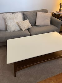 White + Wood Coffee Table