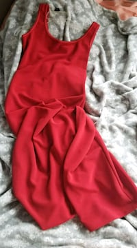 Simple red evening gown