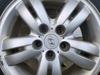 Set of 4- Hyundai Alloy original rims with winter Tires Etobicoke, M9W