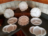 White with gold trim serving dishes Rocky Point, C0A 1H2