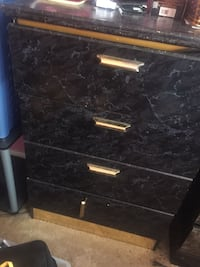 black wooden 3-drawer chest Bethesda, 20814