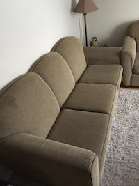 brown fabric 3-seat sofa Orillia, L3V