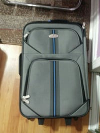 gray hand luggage bag.20×13×7