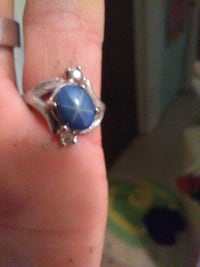 silver and blue gemstone ring Amarillo