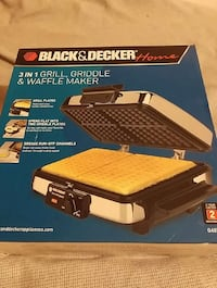 3 in 1 grill griddle & waffle maker