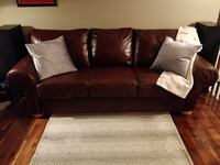 100% Cow Hide LEATHER SOFA by Campio Furniture 535 km