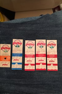 Vintage used Phillies tickets from the 80s