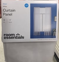 4 sheer curtains with 2 rods