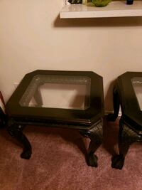 2 amazing glass wood tables Los Angeles, 91344