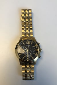 Black and Gold - Tone Chronograph Watch