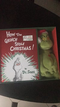 How the Grinch Stole Christmas: Book and stuffie in box Toronto, M9M