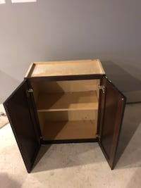 brown wooden cabinet side table