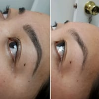 brow tinting & shaping Calgary