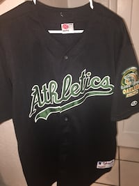 Oakland A's authentic all stitched jersey size XL