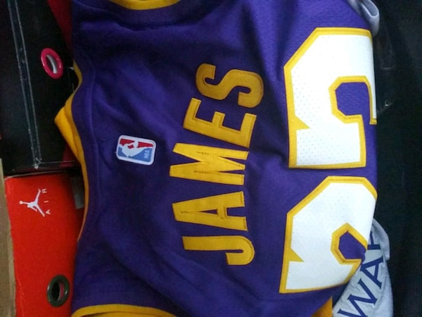 067ffafcfbc Used LeBron Lakers jersey Large for sale in Orlando - letgo