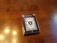 black and white box Raiders playing cards