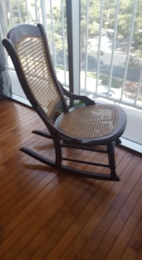 Antique rocking chair Victorian cane back and seat