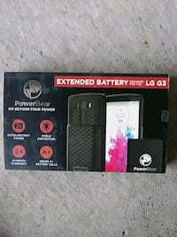 lg g3.     battery 6500mah and case. ( NEW)