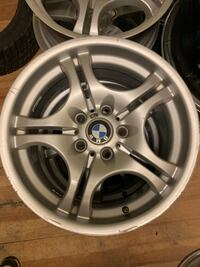 BMW 17 inch 3 series m package staggered rims.