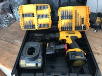 DeWalt 12v drill w/ 2 batteries, a charger and assorted bits. Like new   Renton, 98058