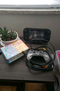 Wii U console with 4 games controller and hdmi