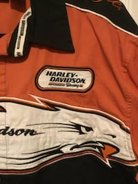 orange and white Harley-Davidson jacket Leesburg