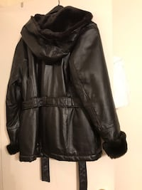 black leather zip-up jacket Humble, 77396
