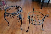 (2) Iron Wrought Flower Pot Stands - Approximately 12-14 Inches Tall Washington, 20032