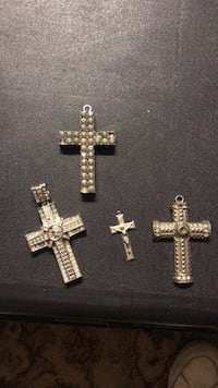 silver and gold cross pendant Copperas Cove, 76522