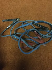 Blue jumper cables