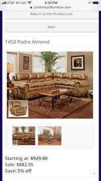 Padre Almond Sectional  Balch Springs, 75181