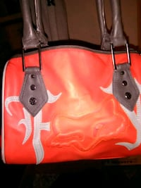 red and black leather tote bag Red Deer, T4N 2G6