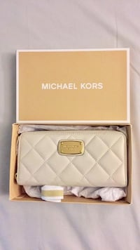 Michael Kors Quilted Cream Wallet