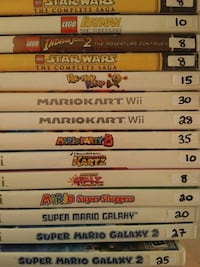 Nintendo wii games for sale individually  Vaughan, L4L 6Z1