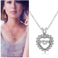 silver chain necklace with heart pendant Surrey, V3X 1P3