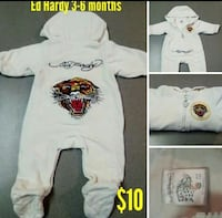 baby's white and red footie pajama Indian Trail, 28079