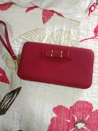Red Leather Cell Clutch