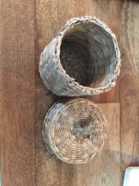 "3"" Small woven basket storage with top Washington, 20002"