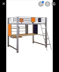 Locker bunk bed with desk