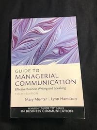 Guide to Managerial Communication by Mary Munter and Lynn Hamilton $5   Vancouver, V6B