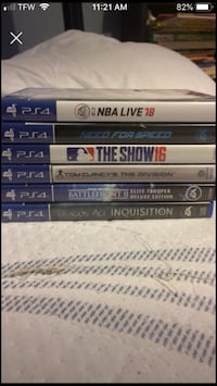 assorted Sony PS4 game cases Vineland, 08360