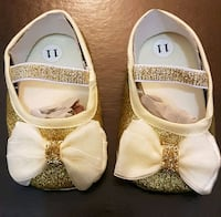 Gold Glitter Baby Shoes (Size 2); Brand New Bradford West Gwillimbury, L3Z 2A5